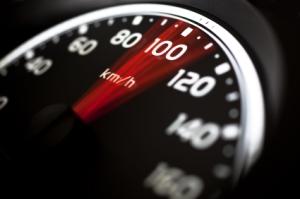 Zu schnell gefahren bedeutet ein Bußgeld
