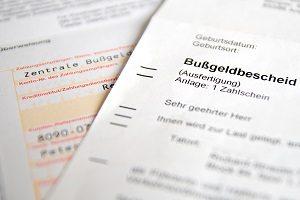 Die Bußgeldstelle verschickt in der Regel den Bußgeldbescheid.