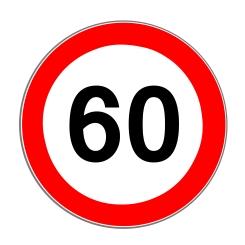 Angaben zur Höchstgeschwindigkeit: Ein Schild kennzeichnet Abweichungen von den allgemeinen Vorgaben.